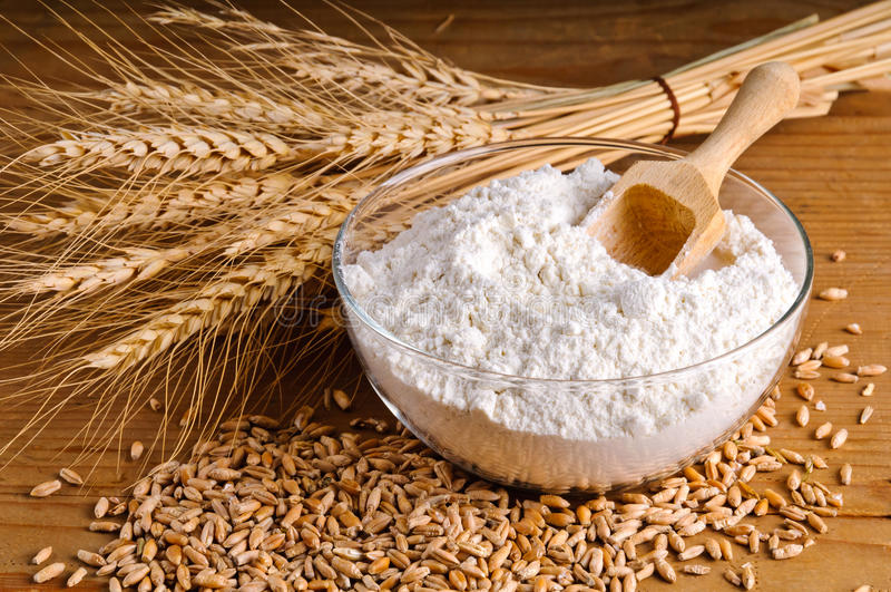 Download Wheat, grain and flour stock photo. Image of organic - 22804776