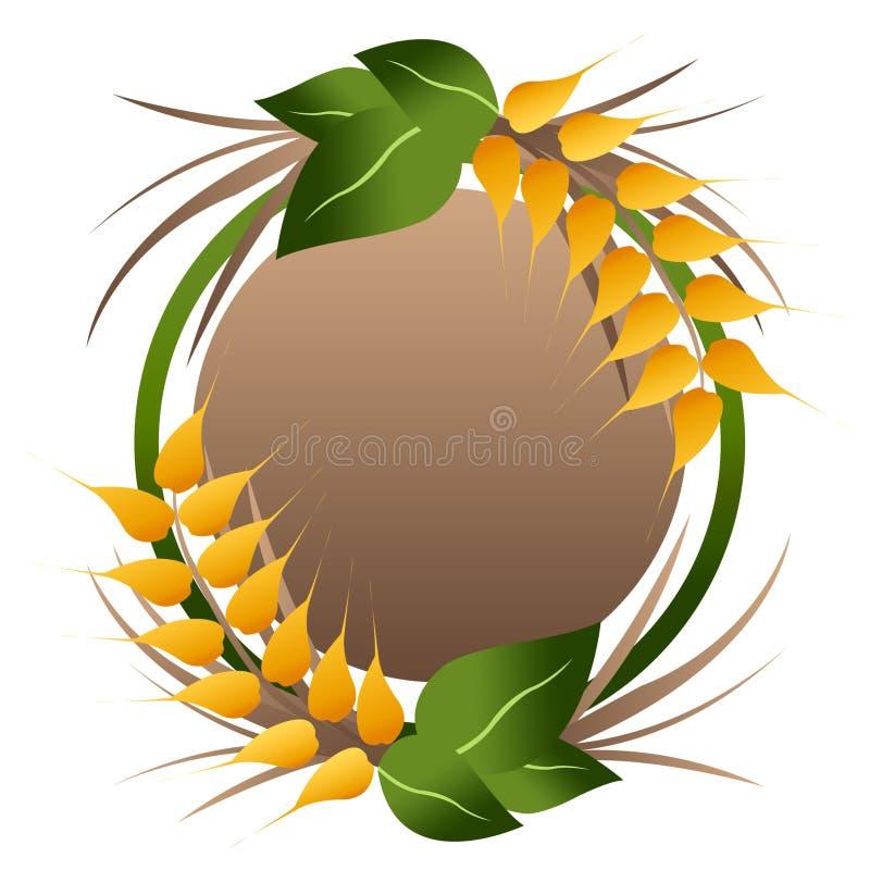 Wheat grains logo royalty free illustration