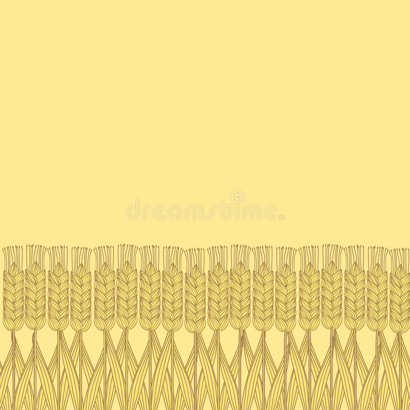 Wheat harvest background. Vector illustration. eps 8 vector illustration