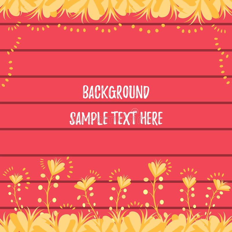 Wheat-like colored Plant Background Template. Wheat-like colored plant / grass framed template with `wooden` background. Pretty much close to fall /autumn season stock illustration