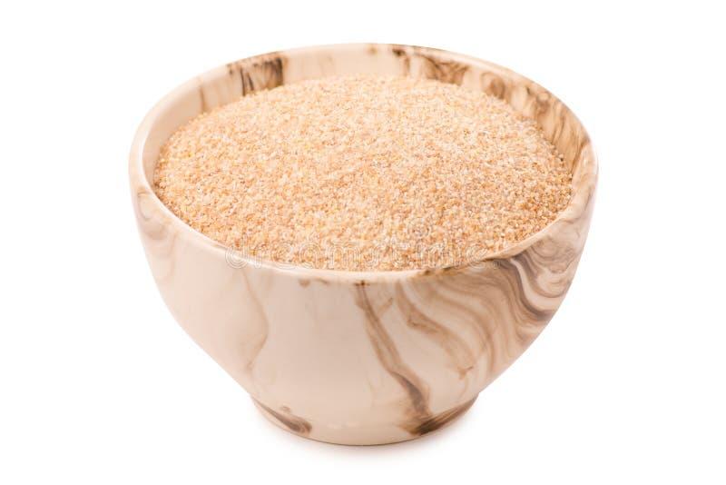 Wheat porridge millet. On white background isolation royalty free stock photos