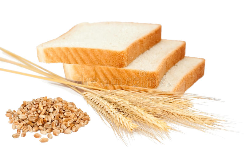 Wheat product and ears royalty free stock images