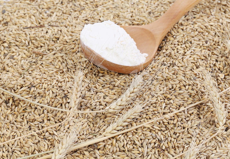 Download Wheat And Spoon With Flour. Stock Photo - Image: 41529552