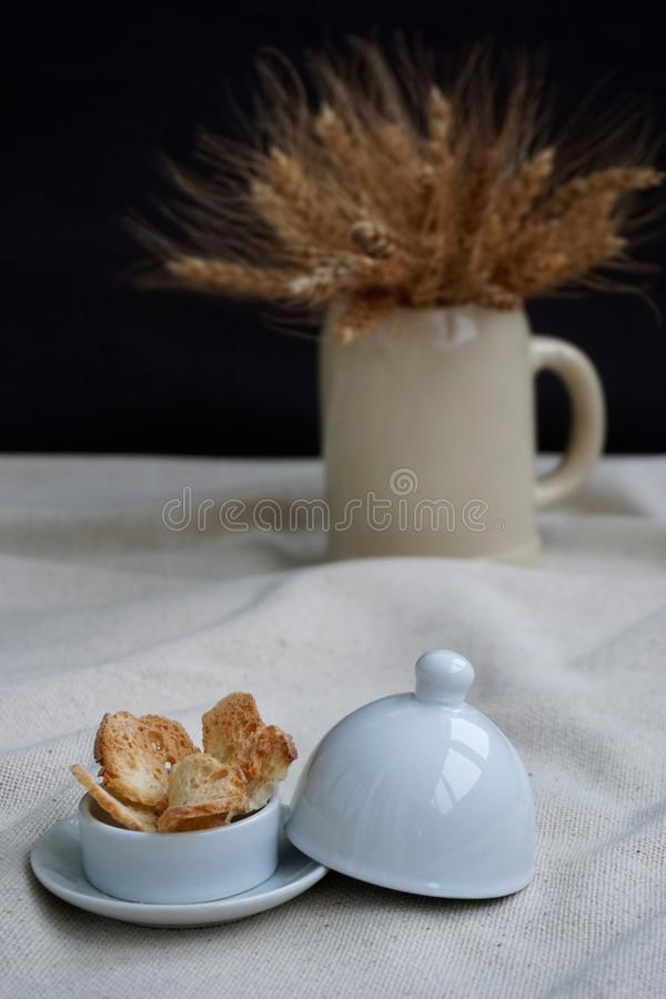 From wheat to bread royalty free stock photography
