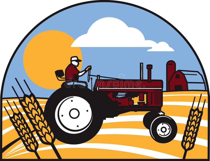 Download Wheat Tractor Stock Image - Image: 31416041