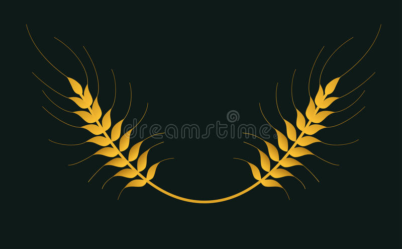 Wheat vector isolated logo stock images