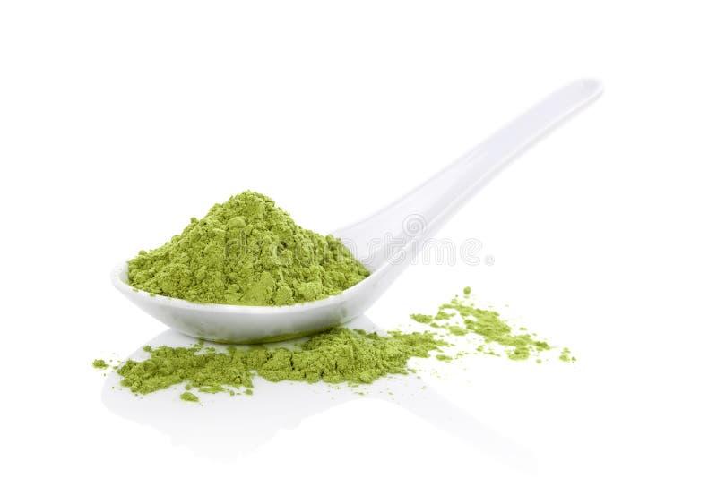 Wheatgrass powder. stock image