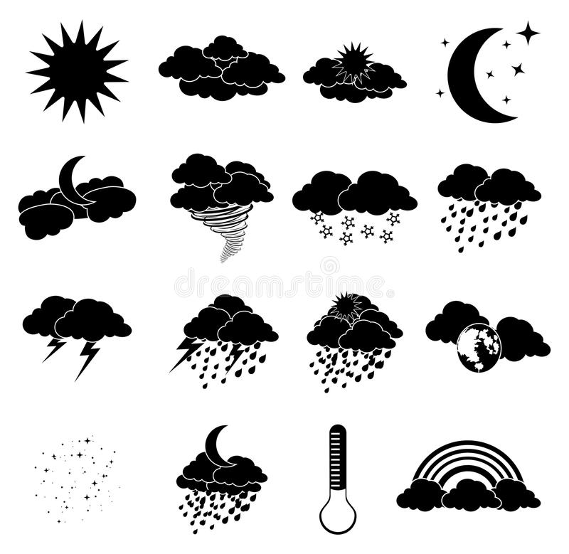 Wheather symboler vektor illustrationer
