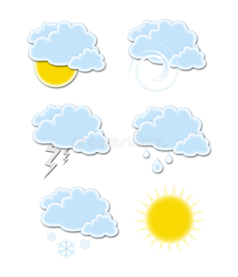 Wheather Symbols Royalty Free Stock Photos