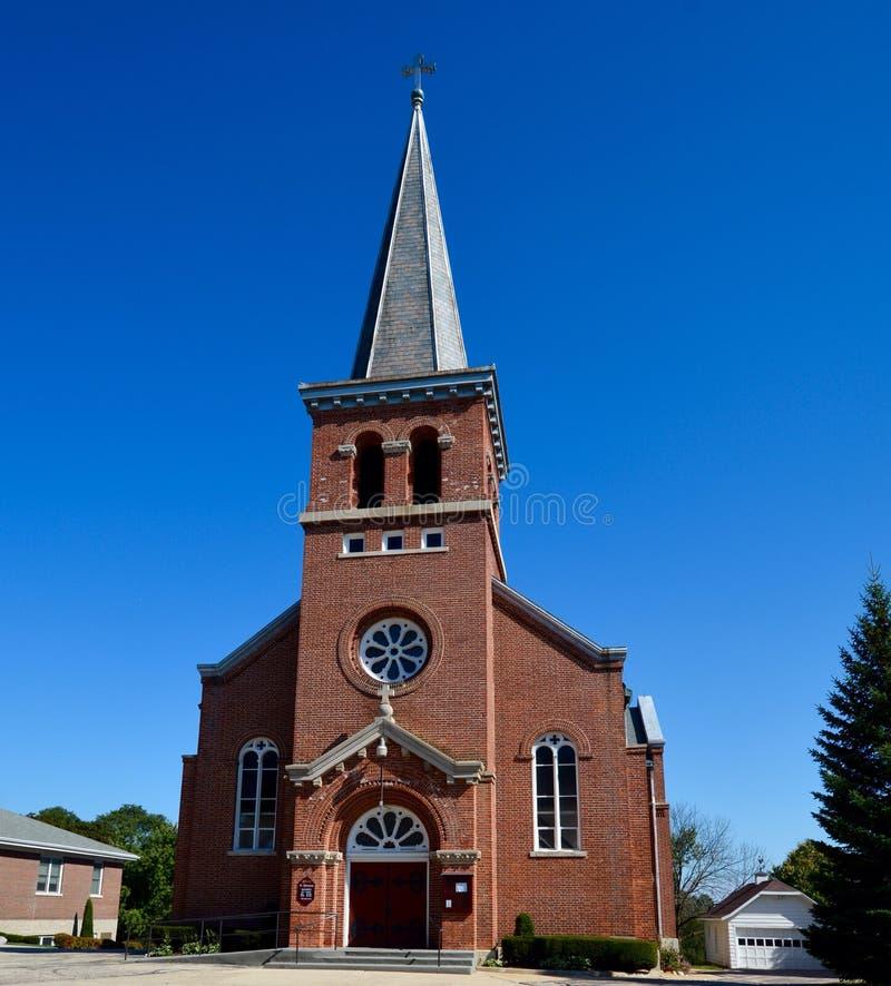 Wheatland教会 免版税图库摄影
