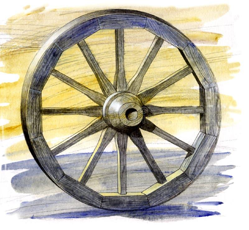 Whee antique de chariot illustration de vecteur