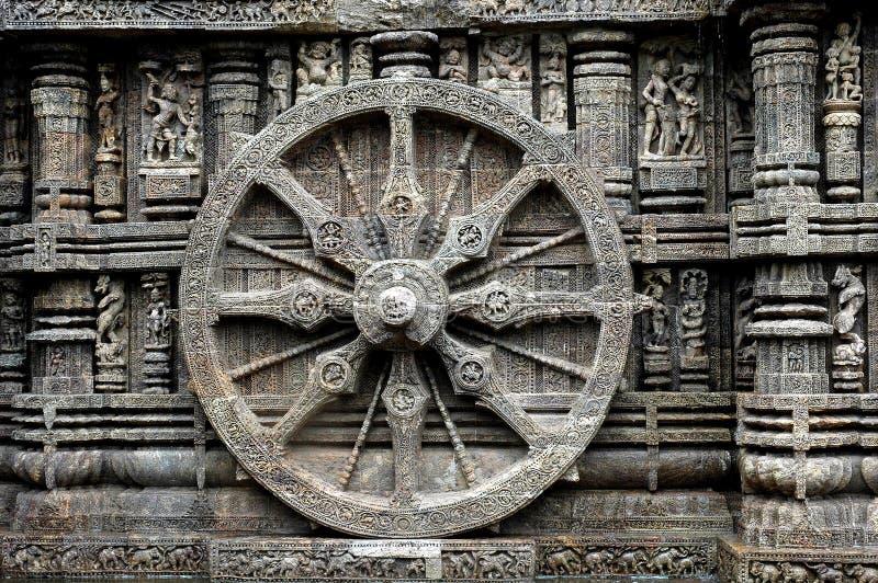 Whee del templo de Konark. imágenes de archivo libres de regalías