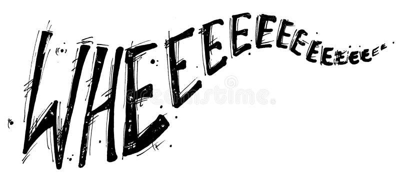 Wheeeeeee vector illustration