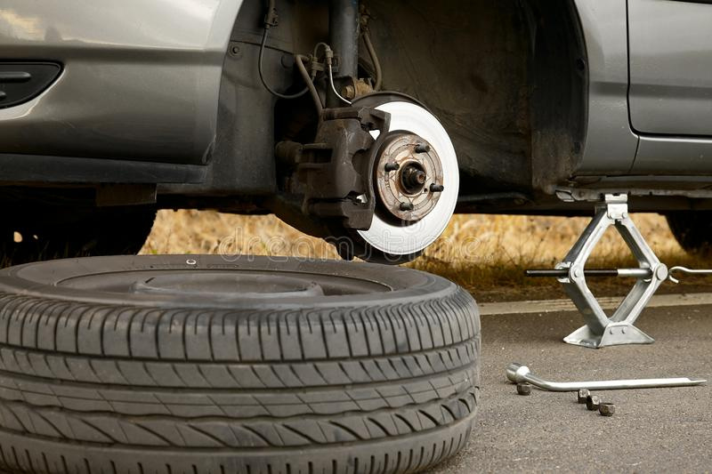 Download Wheel stock photo. Image of ground, spare, mechanic, remove - 23563874