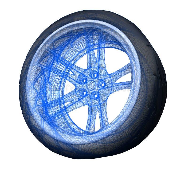 Download Wheel stock illustration. Image of tyres, future, machine - 510158