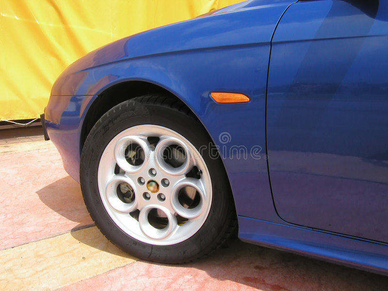 Wheel of Alfa Romeo 156 royalty free stock photo