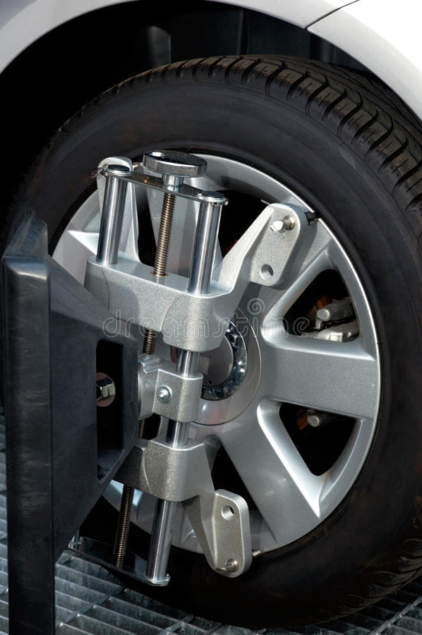 Free Wheel Alignment Machine Clamp Stock Image - 13351951