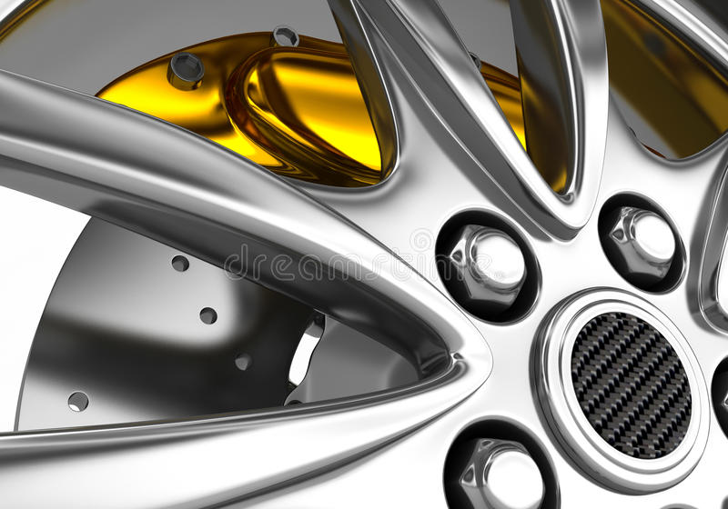 Download Wheel With Alloy Rims - 3d Render Stock Illustration - Image: 16487679