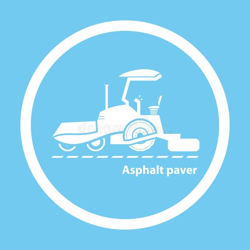 Wheel asphalt paver royalty free illustration
