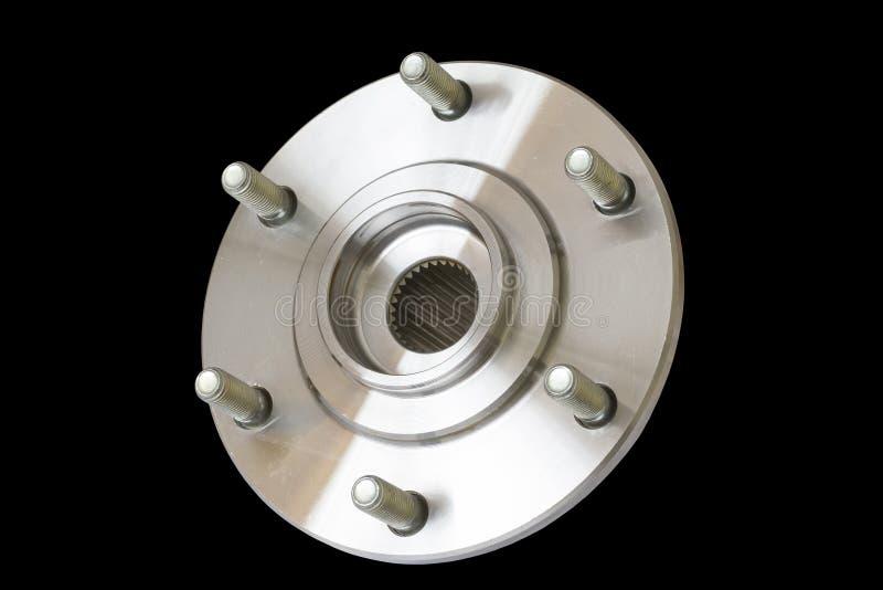 Wheel bearing kit for car on black royalty free stock photography