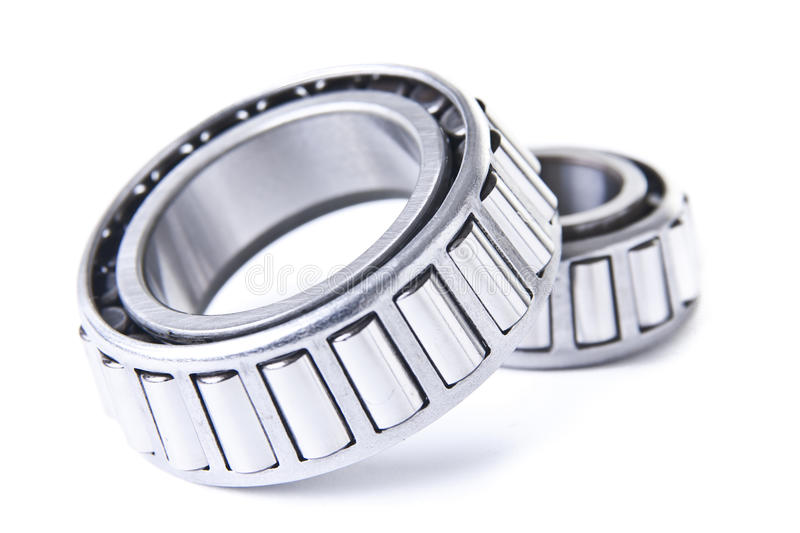 Wheel Bearings on White Background. Wheel bearings for cars and other vehicles stock photos