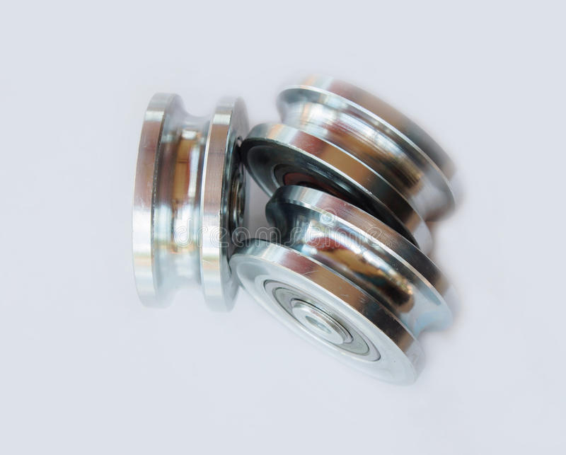 The wheel bearings. On white backgrounds stock photo