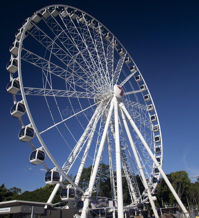 Wheel of Brisbane at South Bank royalty free stock photography