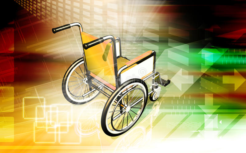 Wheel chair vector illustration