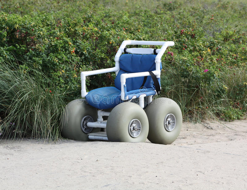 Download Wheel Chair for Beach stock image. Image of wheel, handicap - 21440003
