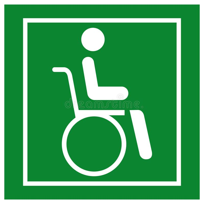 Wheel Chair Hospital Symbol, Vector Illustration, Isolate On White Background Icon. EPS10 vector illustration
