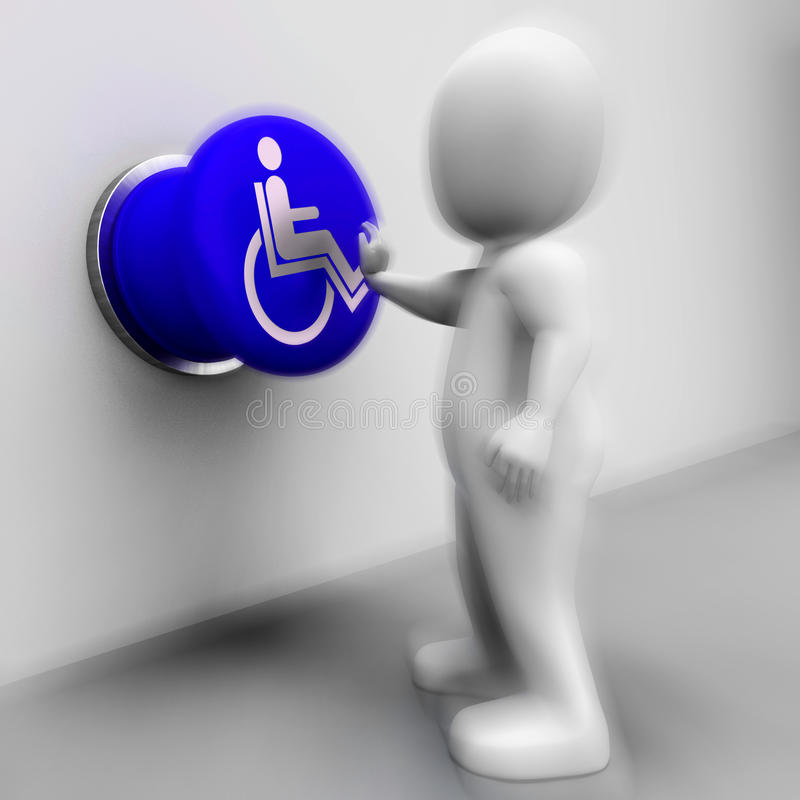 Free Wheel Chair Pressed Shows Physical Disability And Immobility Royalty Free Stock Photos - 41433168