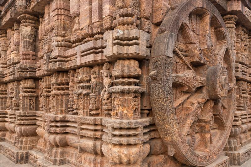 The Kornak Sun temple in India royalty free stock photo