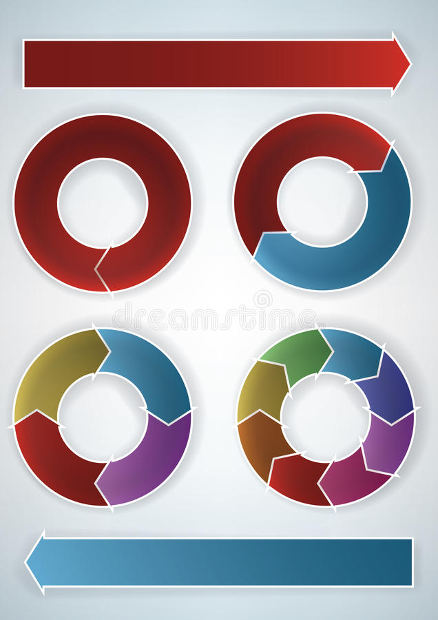Download Wheel charts stock vector. Illustration of blue, multicolored - 19041776
