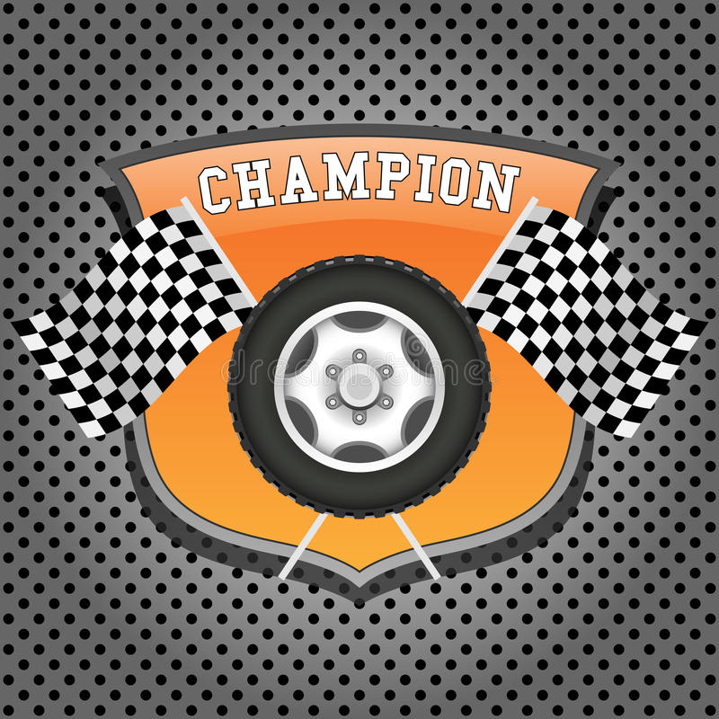 Download Wheel And Checkered Flags Royalty Free Stock Image - Image: 26623956