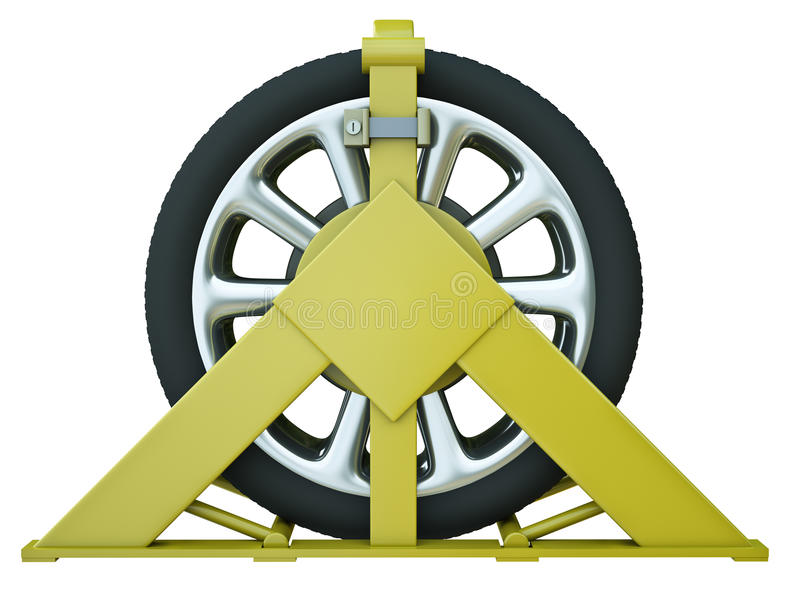 Download Wheel clamp stock illustration. Illustration of clamp - 23955809