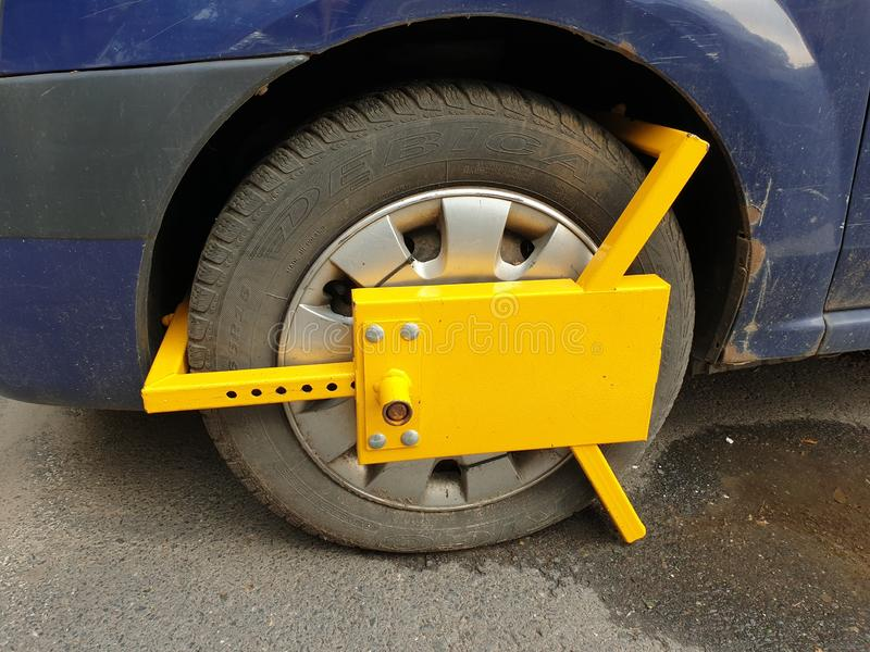 Wheel Clamp front - Car Impound royalty free stock photography