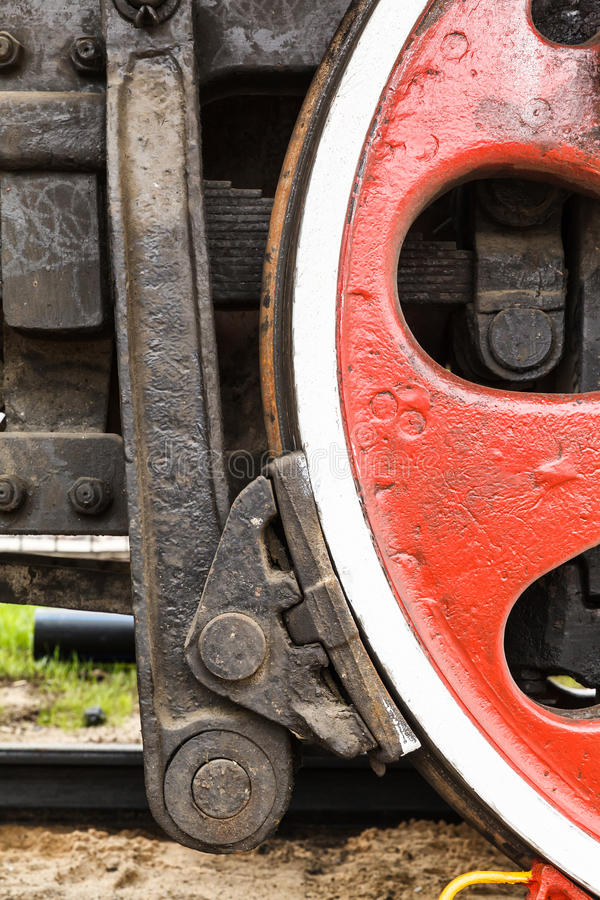 Wheel detail of a steam train locomotive royalty free stock images