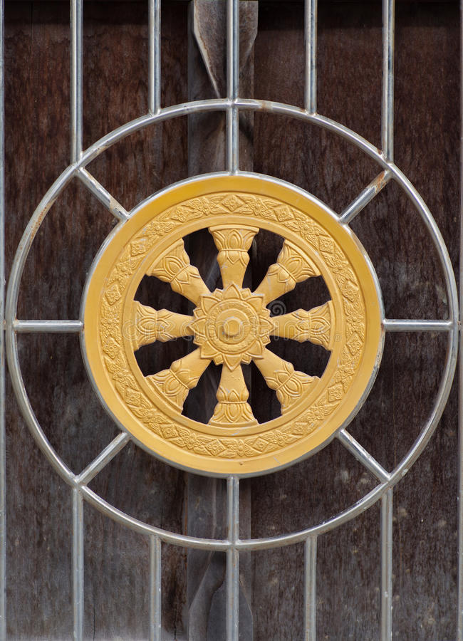 Wheel of dhamma royalty free stock images