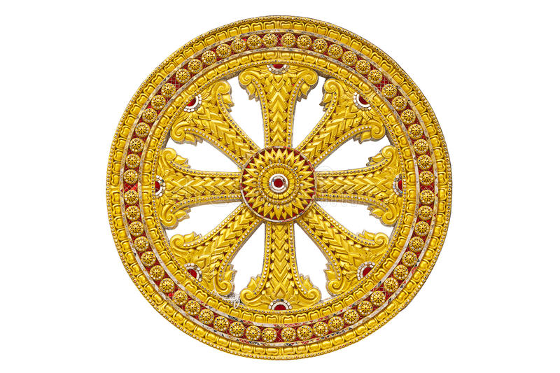Download Wheel Of Dhamma Of Buddhism Stock Photo - Image: 20633564