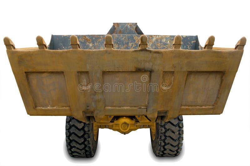 Wheel excavator with bucket beam stock image