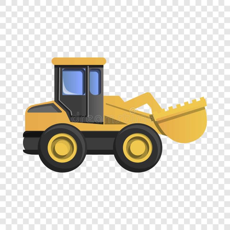 Wheel excavator icon, cartoon style. Wheel excavator icon. Cartoon of wheel excavator vector icon for web design royalty free illustration