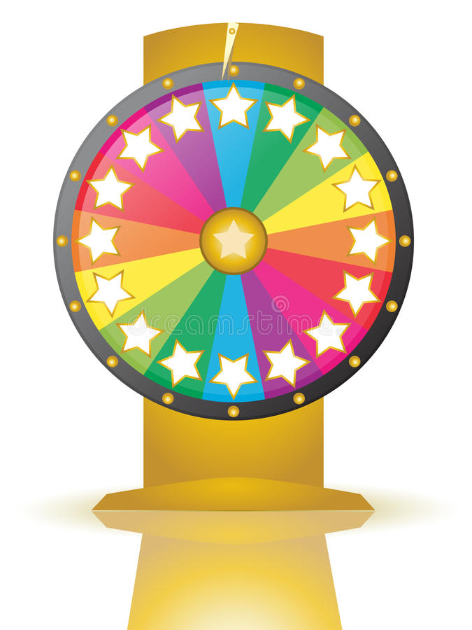 Wheel of fortune. With stars for numbers vector illustration