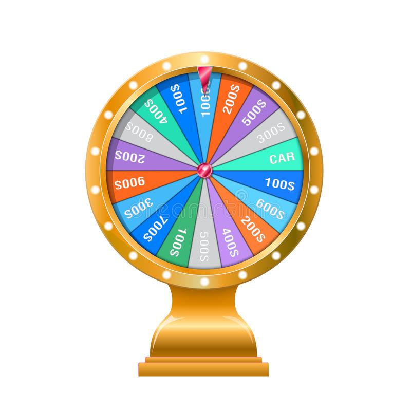 Wheel of fortune 3d object stock illustration
