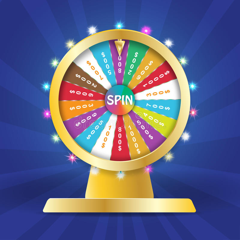 Wheel of fortune 3d object, lucky roulette in flat vector style vector illustration