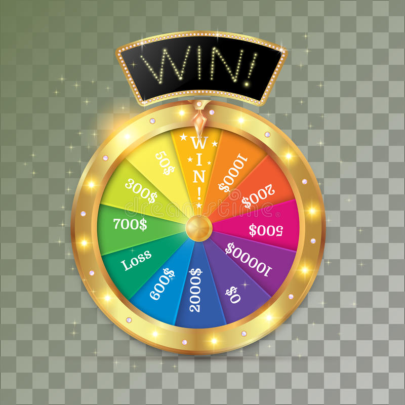 Wheel of fortune 3d object royalty free illustration