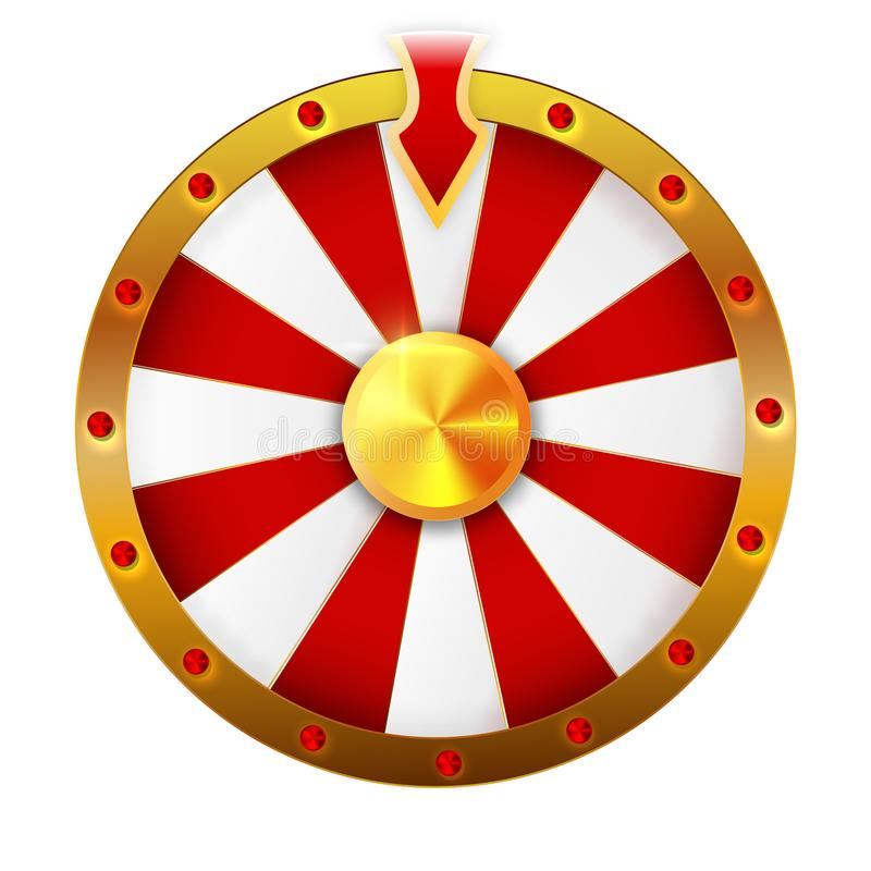 Wheel of fortune isolated vector object on white background. vector illustration