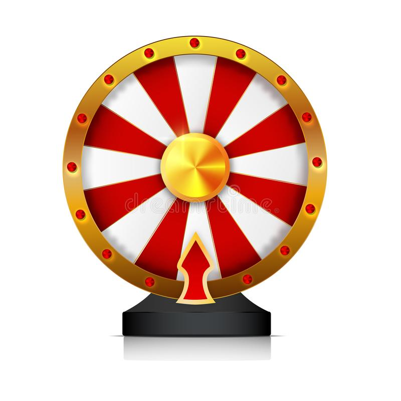 Wheel of fortune isolated vector object on white background. stock illustration