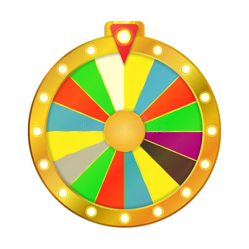 Wheel Of Fortune isolated on white background. stock illustration