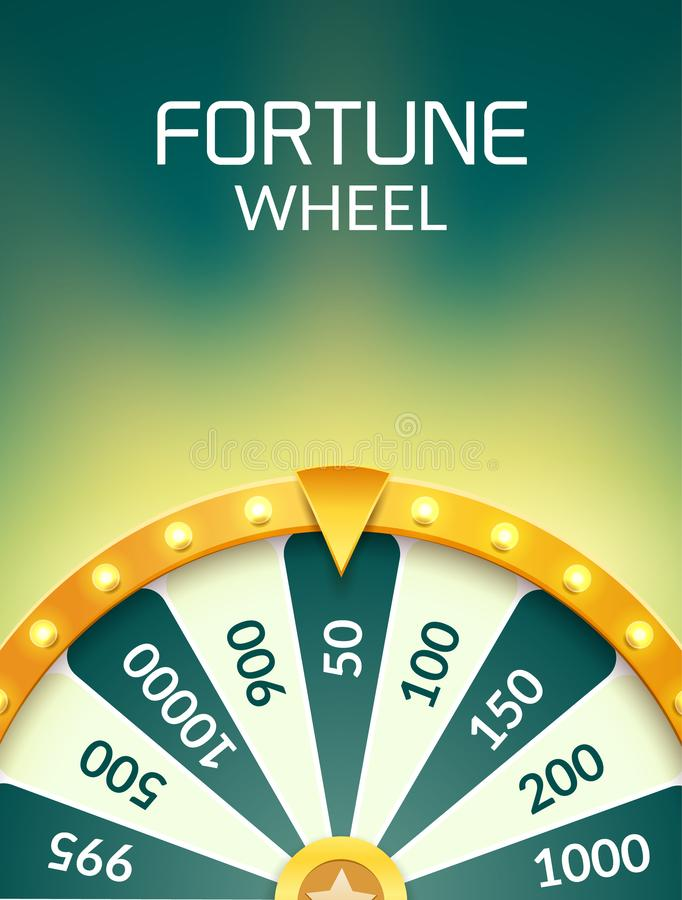 Wheel Of Fortune lottery luck illustration. Casino game of chance. Win fortune roulette. Gamble chance leisure royalty free illustration