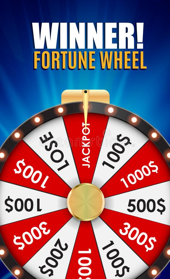 Wheel of Fortune, Lucky Icon with Place for Text. Vector Illustration. EPS10 stock illustration